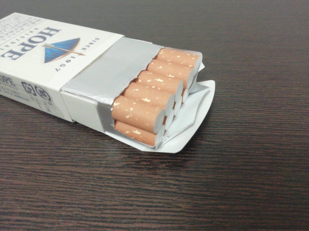 ぎっちり詰まった紙巻き